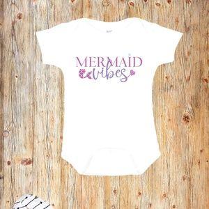 Mermaid Vibes Baby Onesie